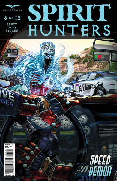 Spirit Hunters #6 Race Car Driver Attacked by Ghost Thrill Horror Scary Comic Cover