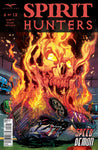 Spirit Hunters #6 Flaming Car Wreck Ghost Face Scary Horror Comic Book