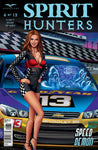 Spirit Hunters #6 Race Car Girl Driver Ghost Race Track Comic Cover Art