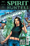 Spirit Hunters #6 Ellen Raceway Spooked by Ghost Comic Book Cover Art