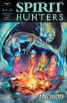 Spirit Hunters #8 D Pasquale Qualano Girls Around Campfire Ghost Haunting Attack