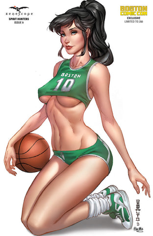 Spirit Hunters #9 - Cover E Boston Celtics Cosplay Girl Basketball Ball Player Jersey