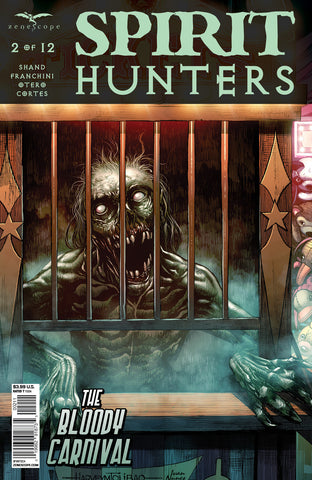 Spirit Hunters #2 Ticket Booth Ghost Attack Scary Horror Comic Cover Art