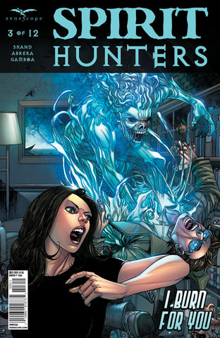 Spirit Hunters #3 Team Under Attack By Spirit Blue Action Intense Comic Cover