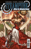 Grimm Fairy Tales Steampunk: Alice In Wonderland Queen of Hearts Beauty Castle Scarlet Dress