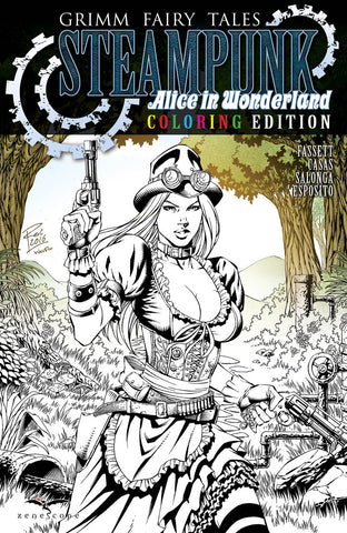Grimm Fairy Tales Steampunk: Alice In Wonderland One-Shot Coloring Edition