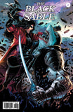 The Black Sable #2 Captain Sable Fight Shark Shakar Sword Swashbuckling Space Pirate Cool Comic Book Cover