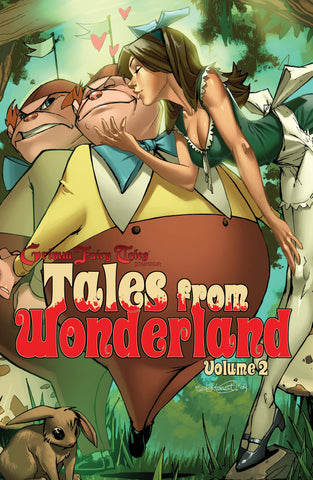 Tales from Wonderland Volume 2 Calie Kiss Wonderland Subject Rabbit Forest Pastel Comic Book Cover Art