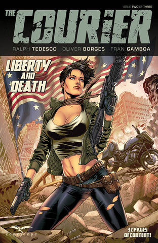 The Courier: Liberty & Death #2. Cover A. Igor Vitorino. Ivan Nunes. Zenescope. 2021.