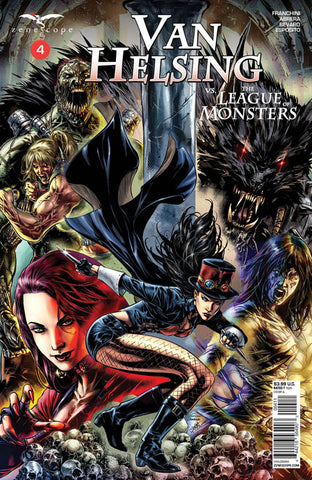 Van Helsing vs. The League of Monsters #4. Cover A. Caanan White. Vinicius Andrade. 2020. Zenescope.