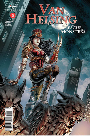 Van Helsing vs. The League of Monsters #5. Cover A. Igor Vitorino. Ivan Nunes. 2020. Zenescope.