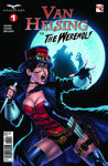 Van Helsing vs. The Werewolf #1 B Netho Diaz Girl with Knife Fighting Moon Van Helsing Battle