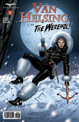 Van Helsing vs. The Werewolf #2 Cover A Zipline Crossbow Van Helsing Parka Mountain Range