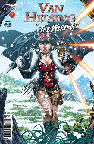 Van Helsing vs. The Werewolf #3 Crossbow Dagger Adventure Himalayas Mountains Snow Pass Firing Action Exciting Comic