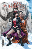 Van Helsing vs. the Werewolf #4 Monk Mountain Pass Snow Werewolf Shadow Comic Book Cover Art