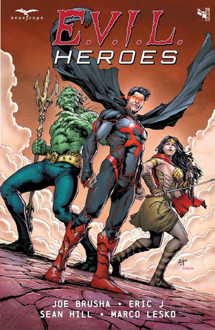 E.V.I.L. Heroes Trade Paperback Edgar Salazar Chaos Merman Evil Princess Comic Book Cover Art