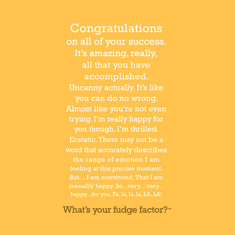 Fudge Factor Congratulations Tin