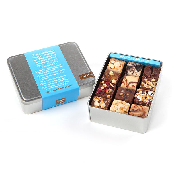 Fudge Factor Birthday Tin