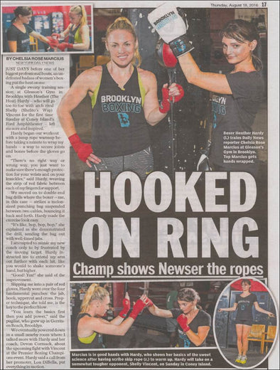 Daily News Newser takes a swing at intense training session with undefeated boxer Heather (The Heat) Hardy