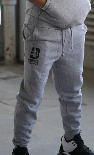 Grey Brooklyn boxing Joggers