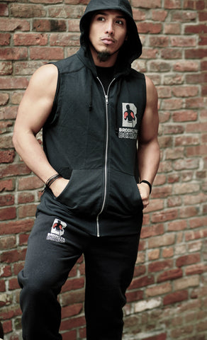 Sleeveless Ring Walk Hooded Full Zip-Up