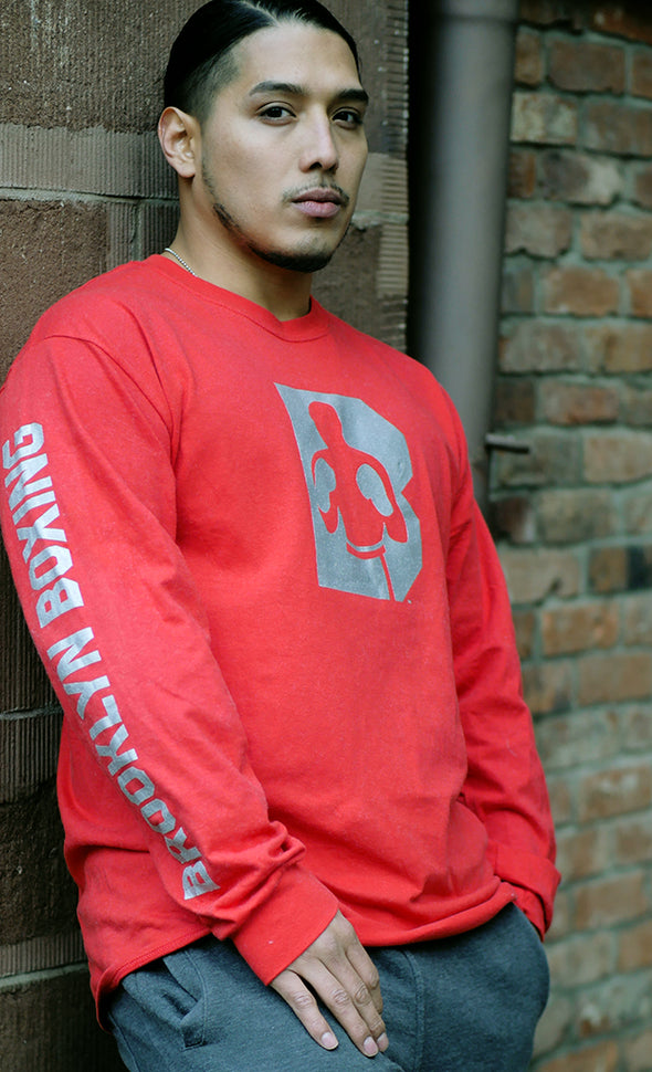 Brooklyn Boxing Side Hit Long Sleeve T-Shirt