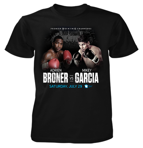 The Official 7.29 Adrien Broner VS. Mikey Garcia  Fight Shirt