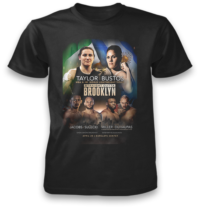 4/28 Daniel Jacobs  vs. Maciej Sulecki Official Matchup Shirt