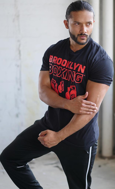 Red/Black Brooklyn Boxing Hanging Gloves T-shirt