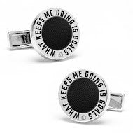 Muhammad Ali™ Cufflinks with Carbon Fiber & Inspirational Quote