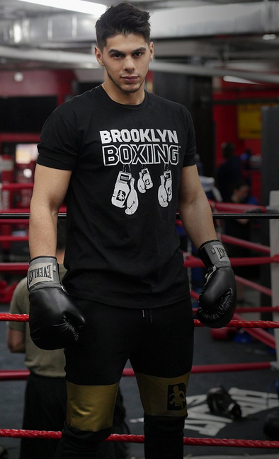 White/Black Brooklyn Boxing Hanging Gloves T-shirt