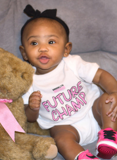 Future Champ Onesie (White/Pink)