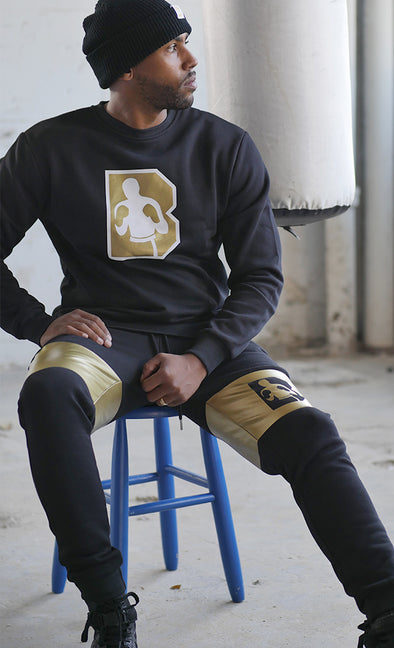 Gold Crew Neck Sweatshirt