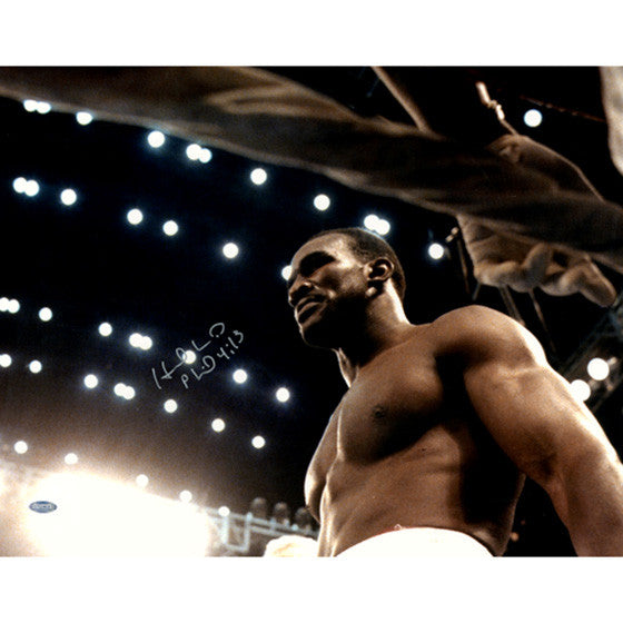 Evander Holyfield Glaring in Ring Signed 16x20 Photo