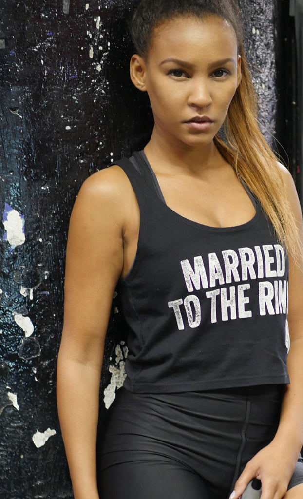 Women's Married To The Ring Crop Tank Top