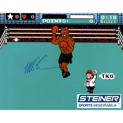 Mike Tyson Signed 16x20 Punch Out Photo