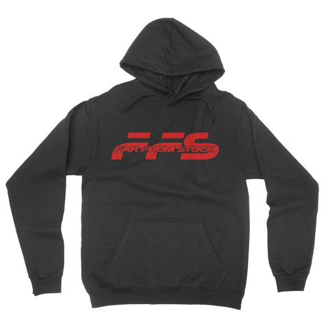 Classic Logo Hoodie Black with Red