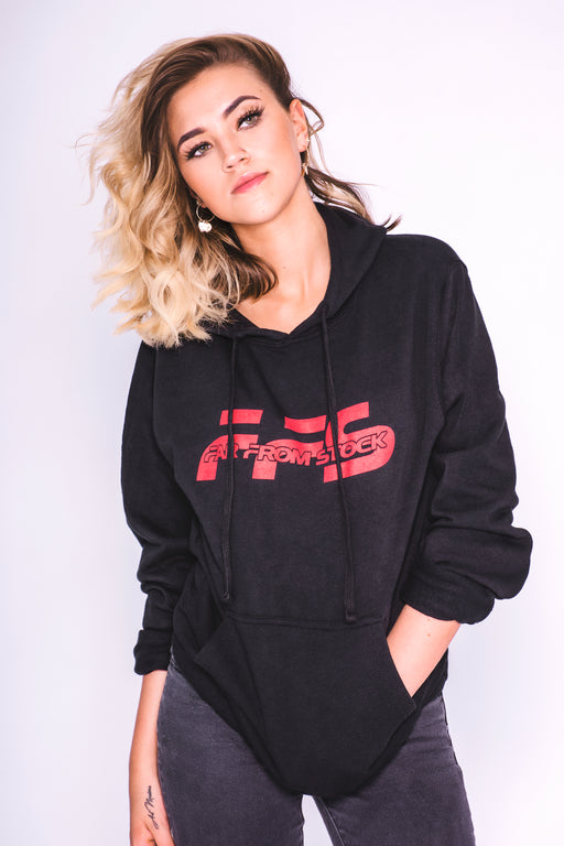 Classic Logo Hoodie Black w/ Red