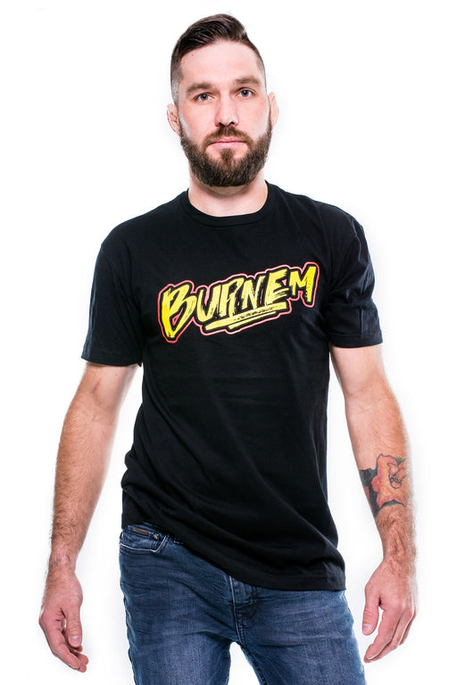 Burnem' Tee Black w/ Yellow