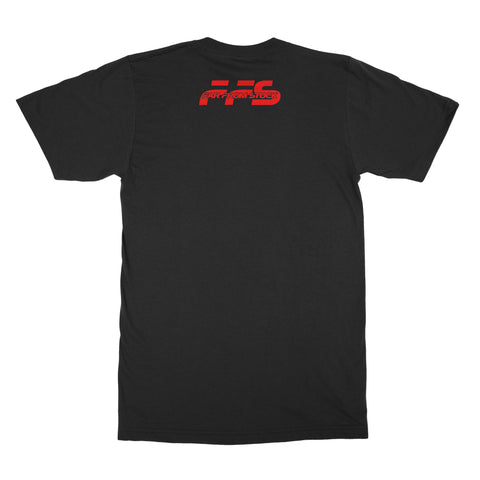 Burnem Tee Black with Red