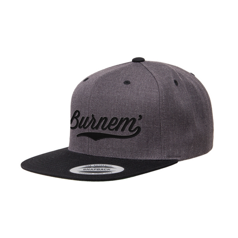 Burnem' Snapback Grey w/ Black