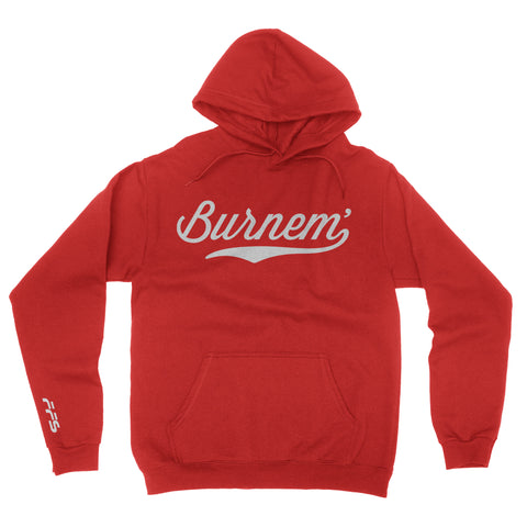 Burnem Hoodie Red with White