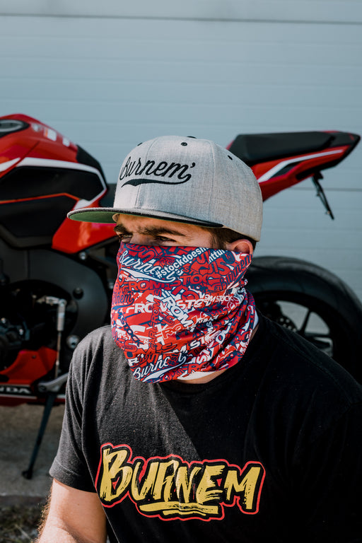 Red, White & Blue -FFS Sticker Bomb Neck Gaiter
