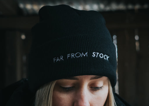 Far From Stock acrylic embroidered beanie