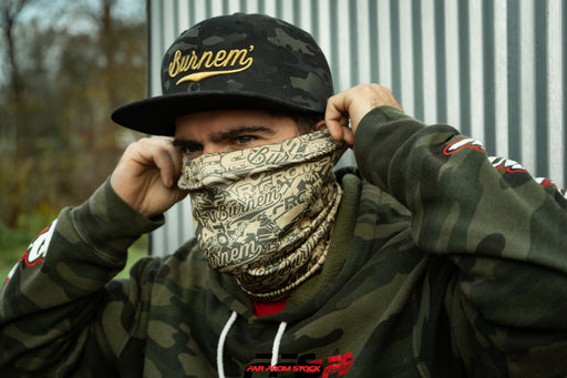 Desert Sand/Army Green FFS Sticker Bomb Neck Gaiter