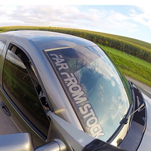 "24"" Far From Stock Windshield Pillar Decal"