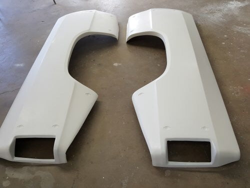 80-93 dodge race fiberglass bedsides, 4 inch flair, 84 inches long
