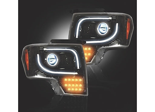 Recon Projector Headlights with LED Turn Signals (Smoke)