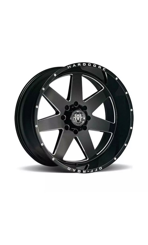 22 inch 22x12 Hardcore Offroad HC14 BLACK MILLED wheel rim 6x5.5 6x139.7 -44