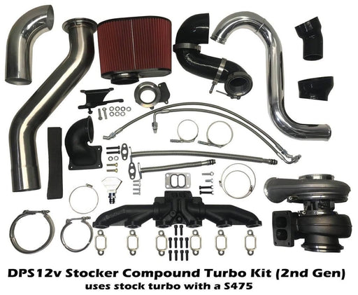 1st Gen Dodge Add-a-Turbo Compound kit with an S475 for a 12V